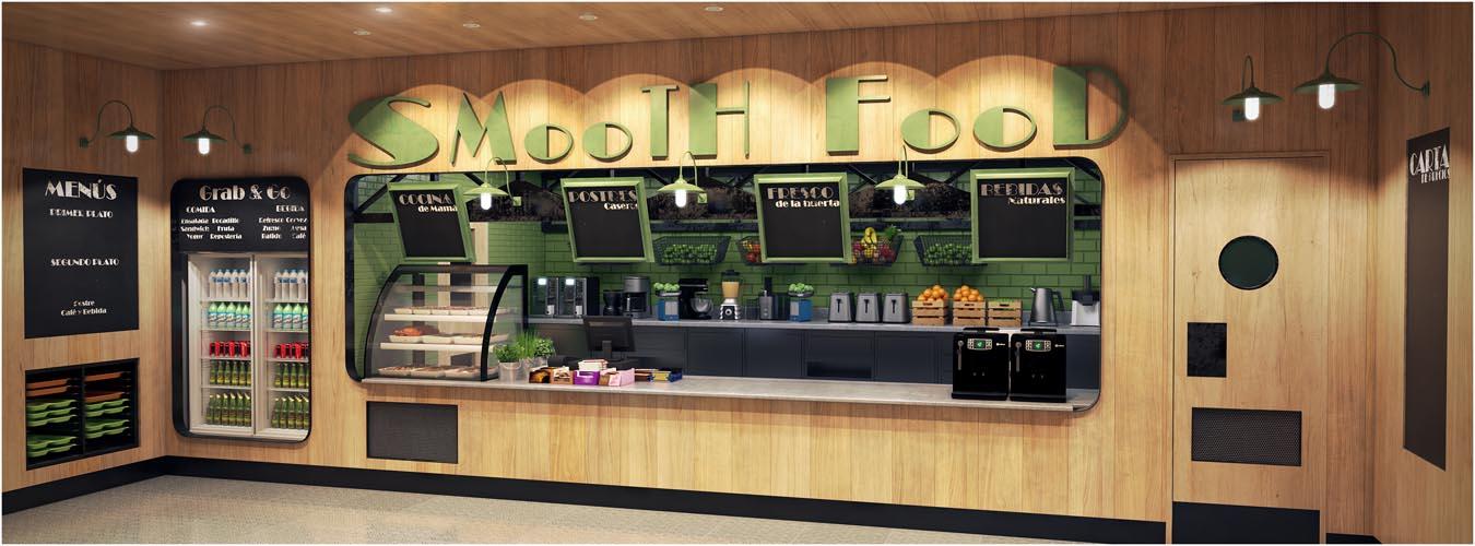 Concepto cafetería Healthy
