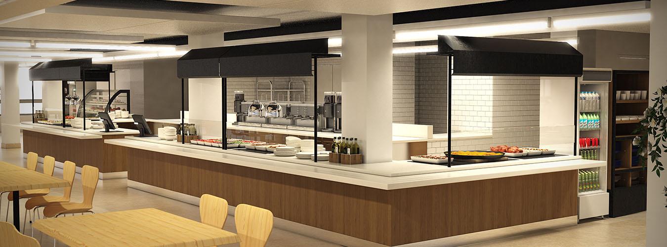 Concepto Cafetería Buffet